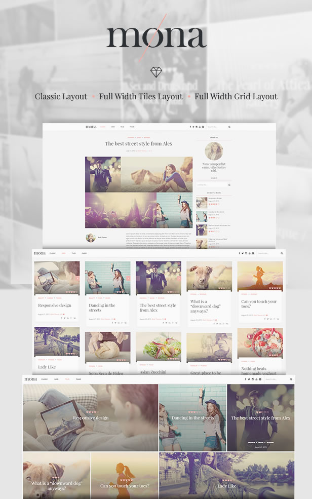 Mona – Personal Blog Theme